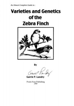 Varieties and genetics of the zebra finch